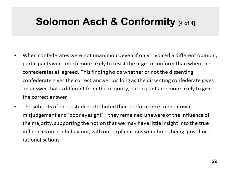 Solomon Asch & Conformity [4 of 4]